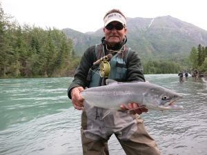 Great Sockeye Salmon caught on a fly rod