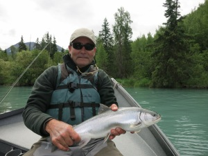 Bret Curry with a resident Dolly Varden.