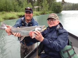 Gene Bern on his first day out catches a nice Dolly Varden