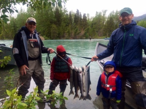 Here's a returning client we had to opportunity to get out on the water again this year.  He brought his dad and boys down for a great day of fishing (and catching!).
